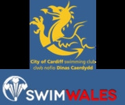 City of Cardiff Swimming Club and Swim Wales logo